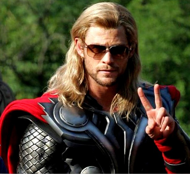 thor wearing sunglasses
