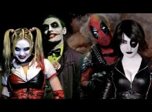 harley quinn joker deadpool domino