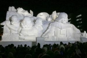 star wars ice sculpture death star