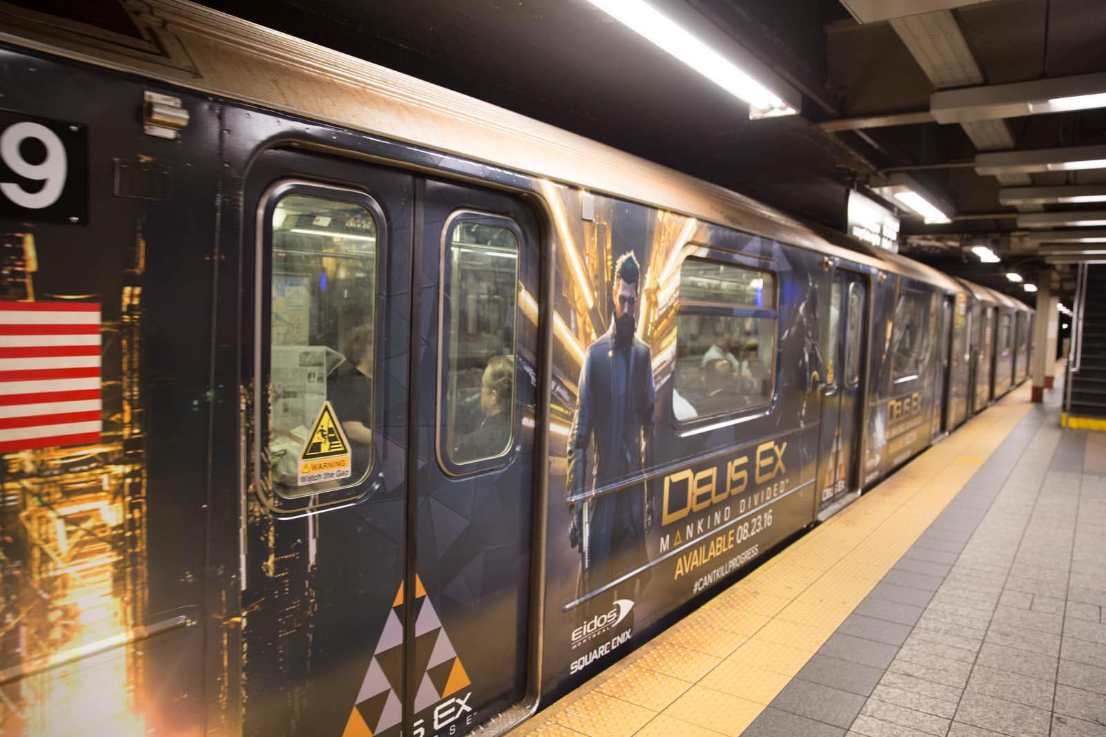 Deus Ex Mankind Divided New York Subway Advertisment 2