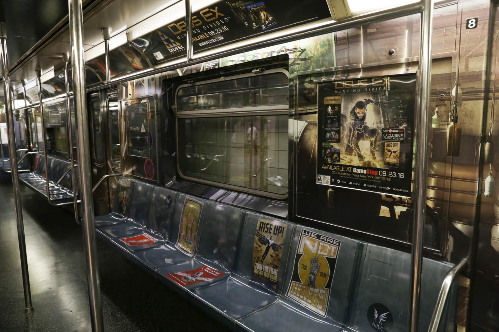 Deus Ex Mankind Divided New York Subway Advertisment 3