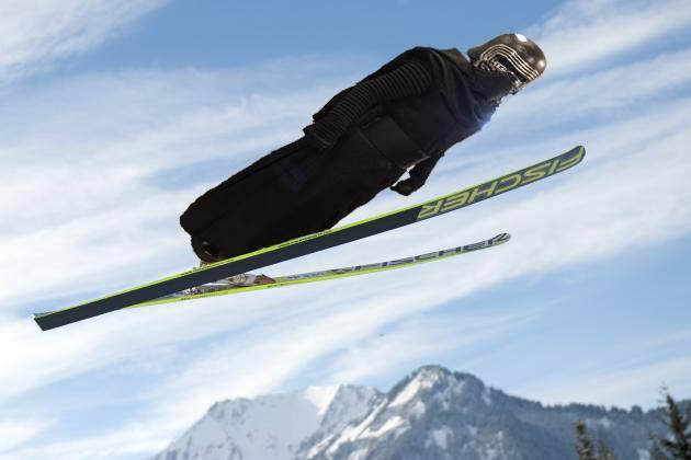 Kylo Ren Skiing