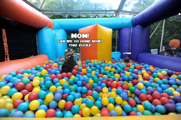 Kylo Ren in a ball pit