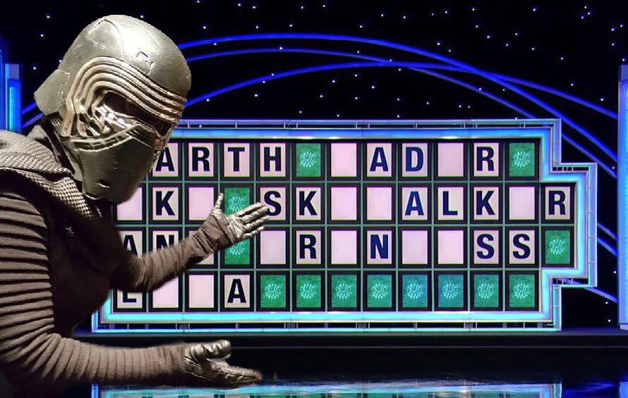 Kylo Ren Wheel of Fortune