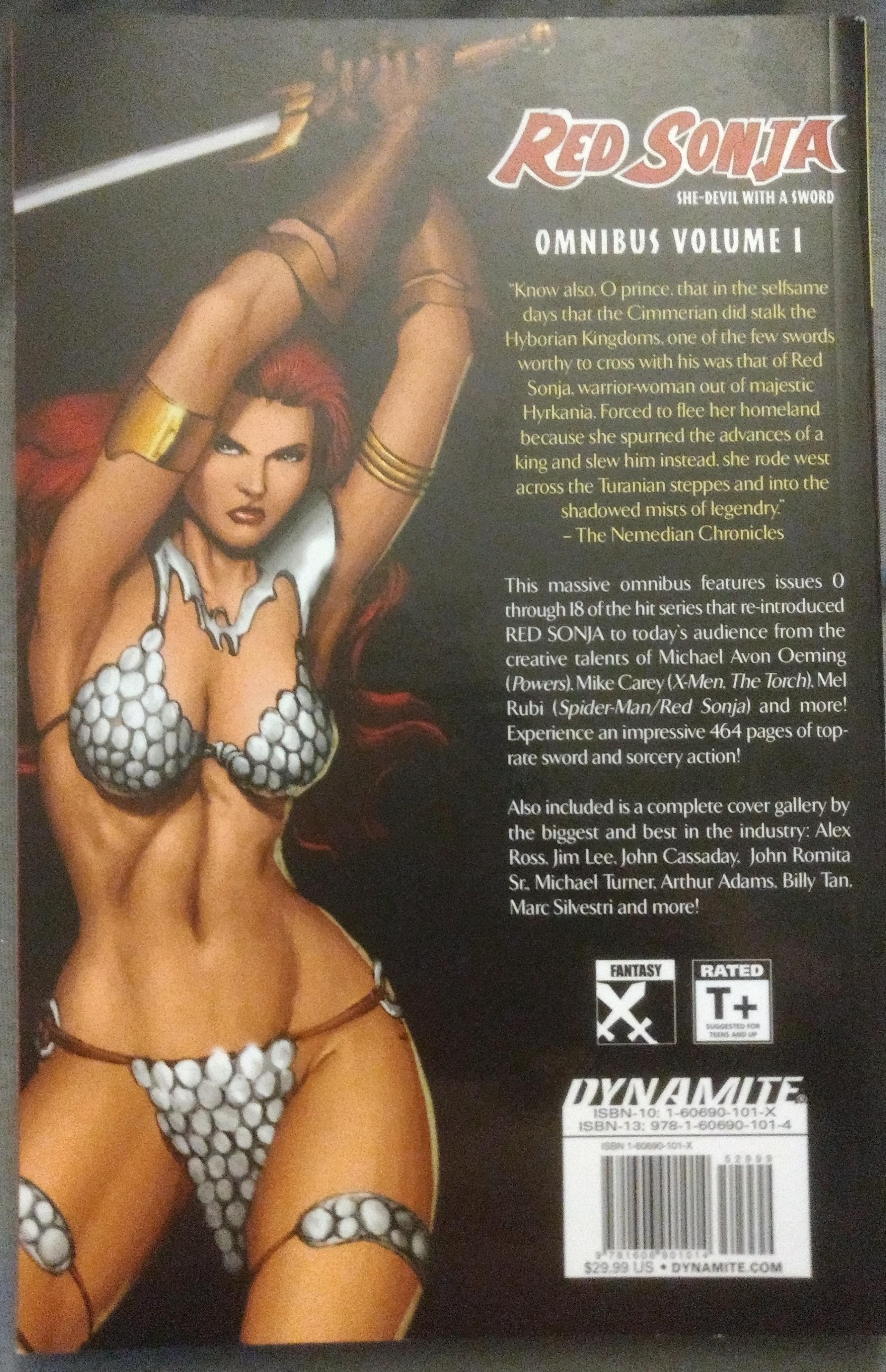Red Sonja Omnibus Volume 1 Back Cover