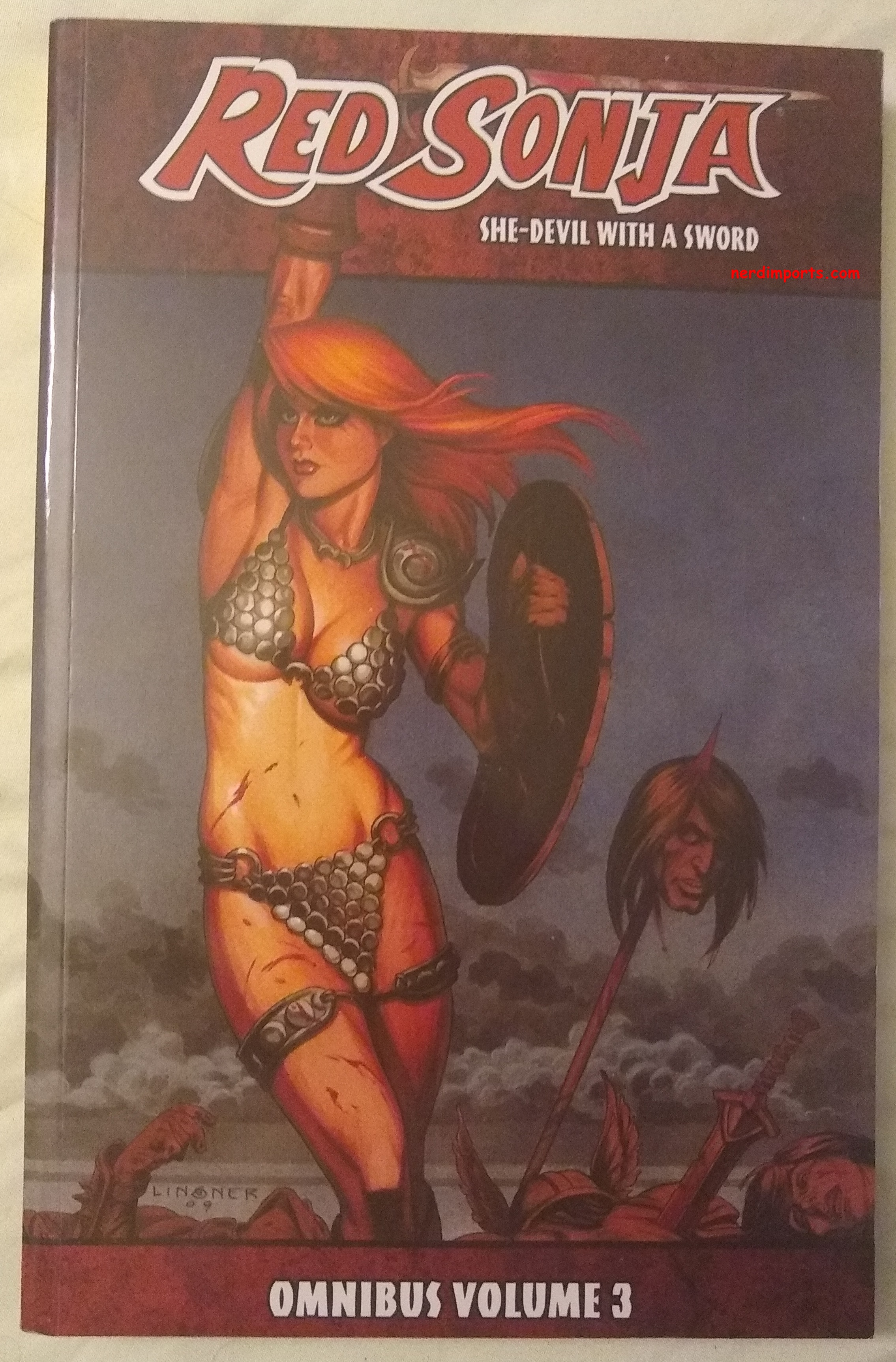 Red Sonja Omnibus Vol 3 Cover by NerdImports