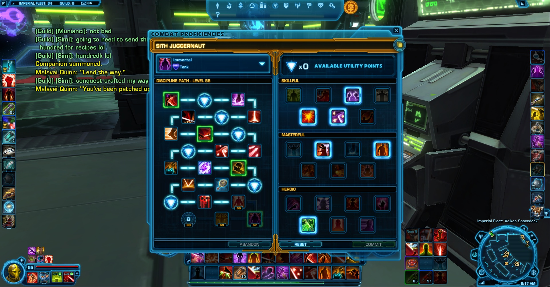 The new skill system in SWTOR for Juggernauts