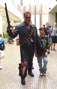 Terminator and John Connor Cosplay Judgment Day