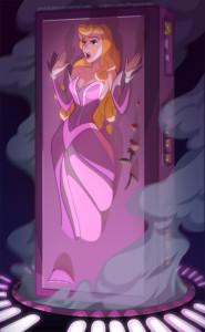 Princess Aurora Frozen in Carbonite