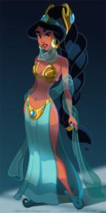 Princess Jasmine as Slave