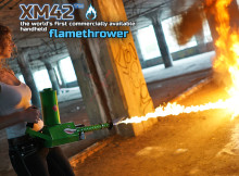 flame thrower girl
