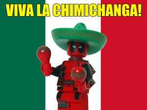 lego deadpool chimichanga