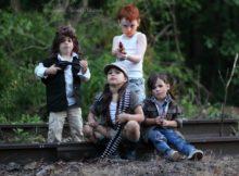 TWD Children Group Cosplay Quartet