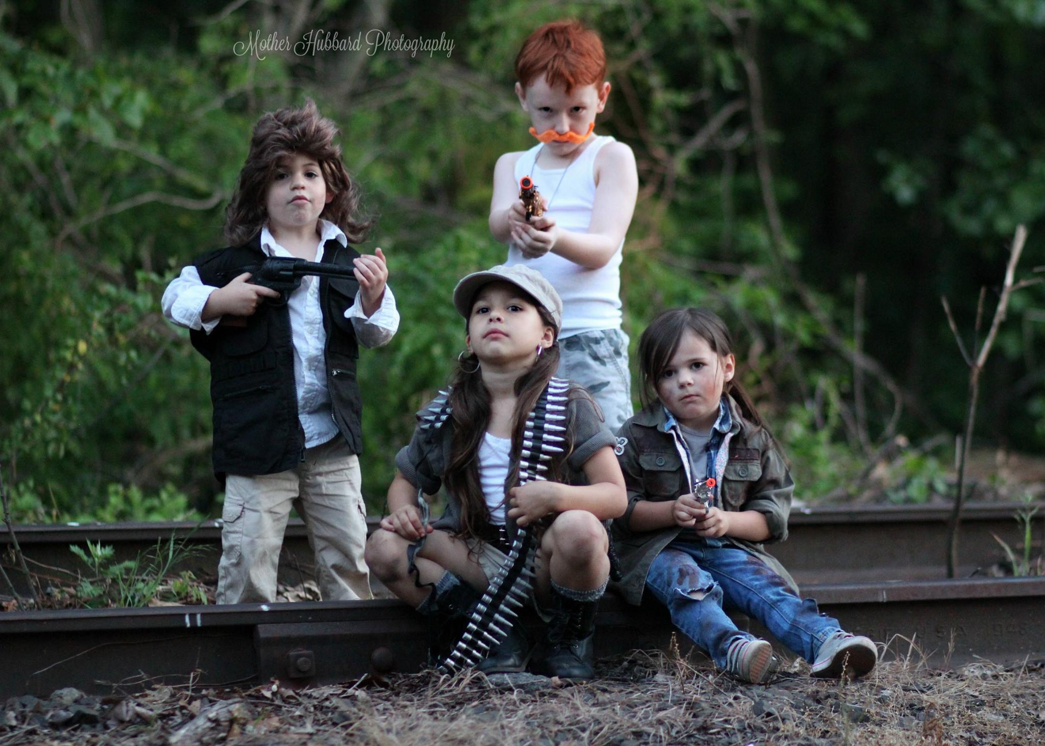 TWD Children Group Cosplay Quartet