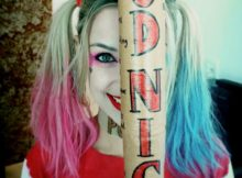 Veronica Bochi cosplaying as Harley Quinn 9