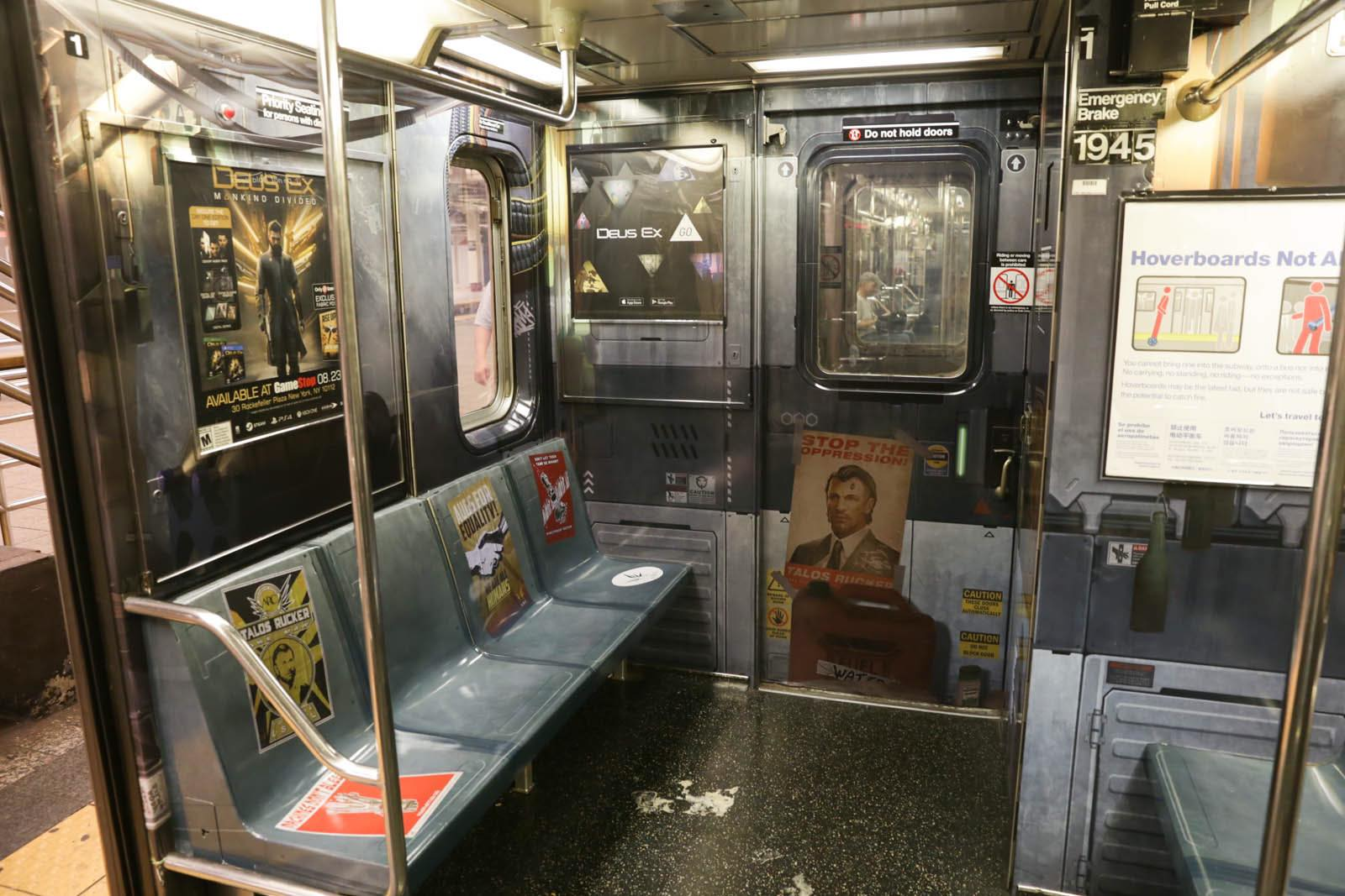 Deus Ex Mankind Divided New York Subway Advertisment 4