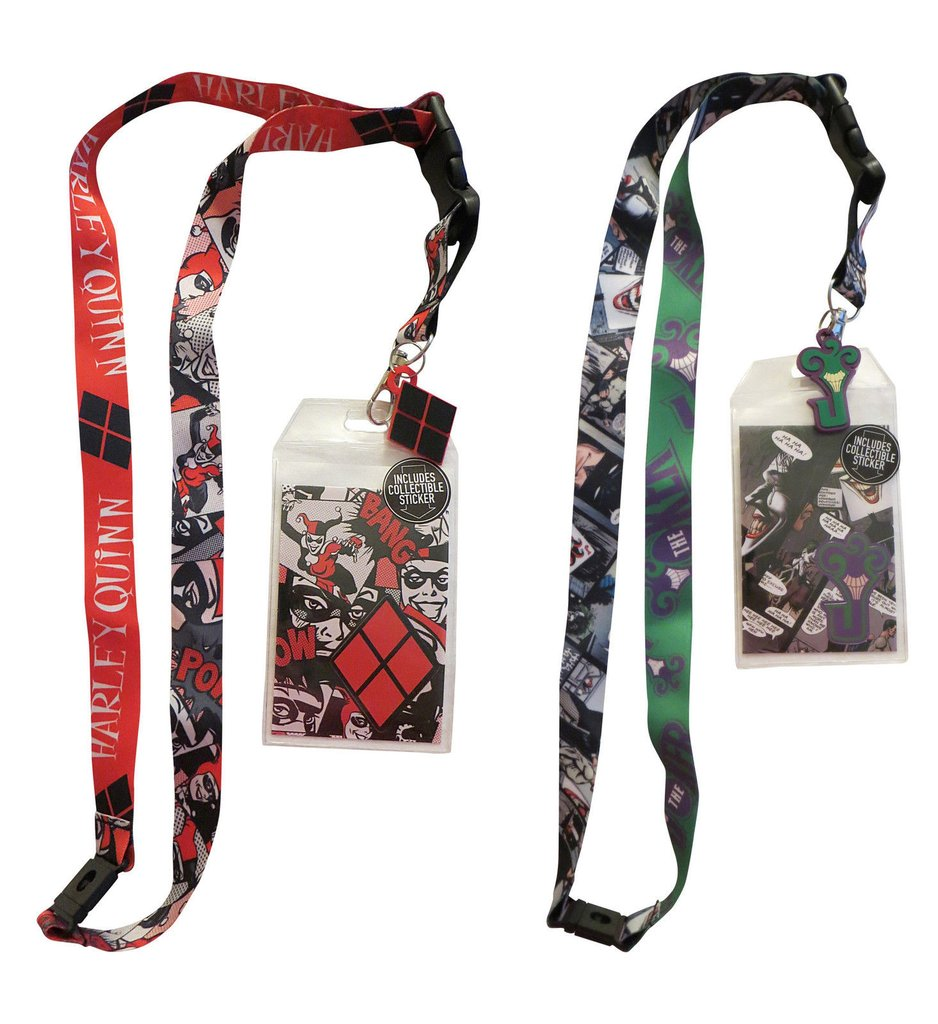 Harley Quinn and Joker Lanyard Bundle from nerdimports
