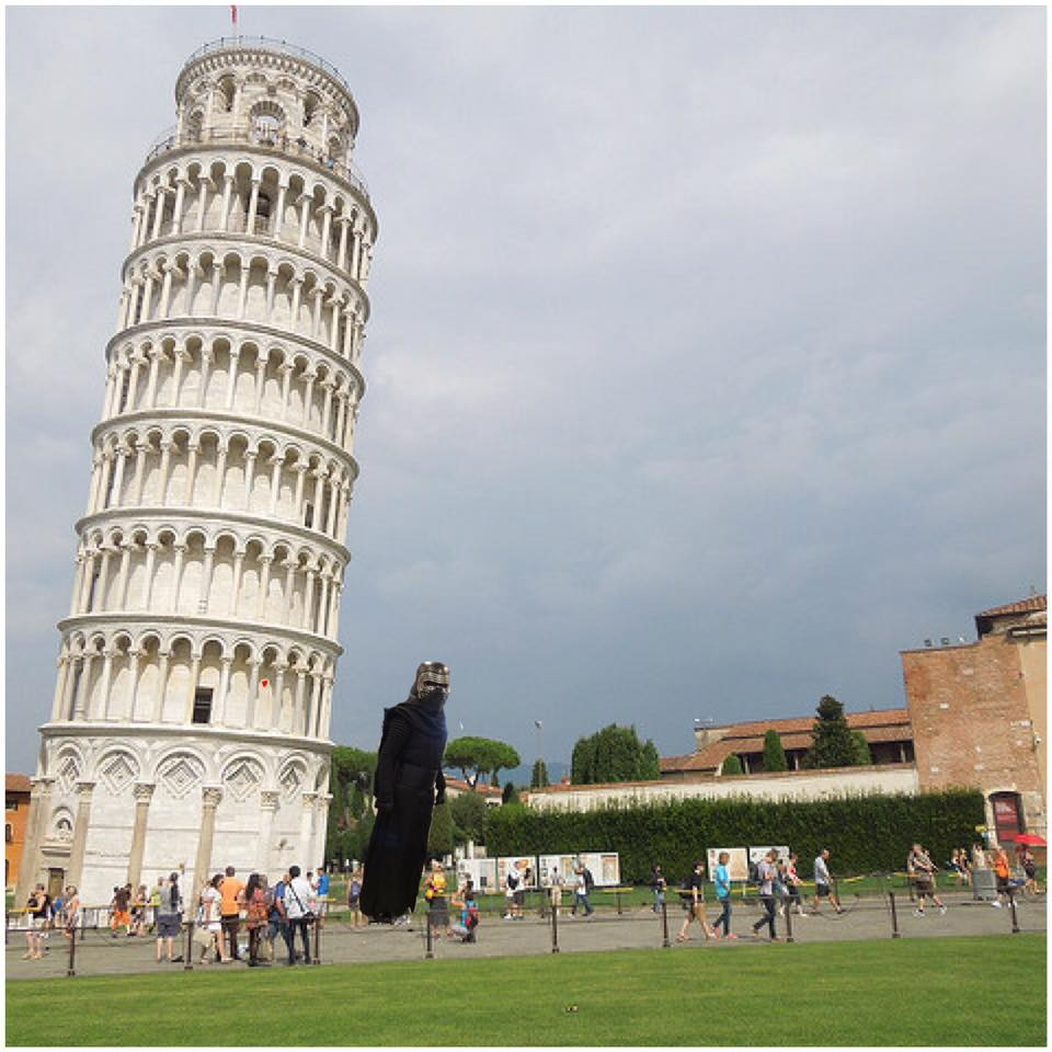 Kylo Ren Leaning Tower of Pisa