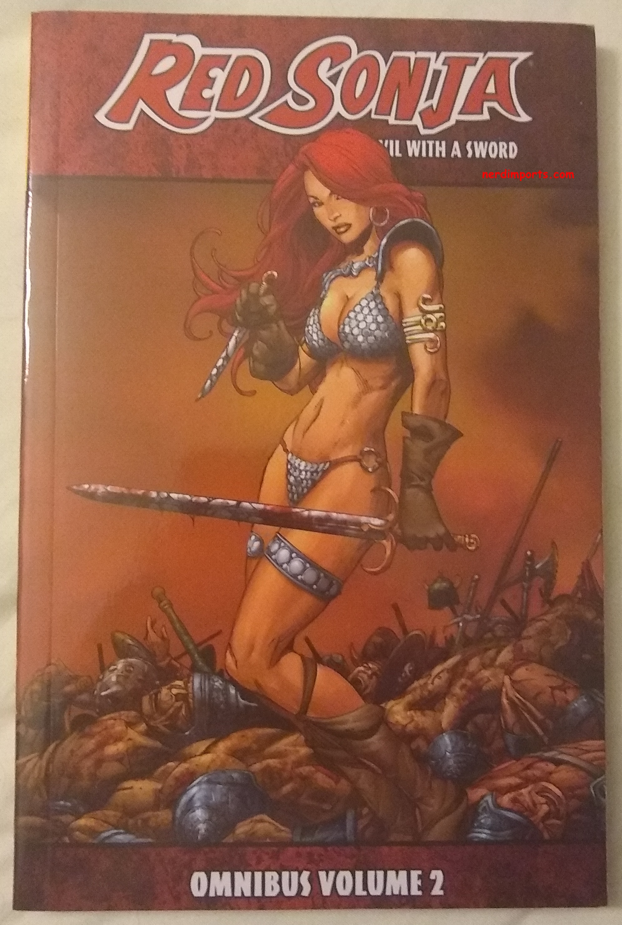 Red Sonja Omnibus Vol 2 Cover by NerdImports