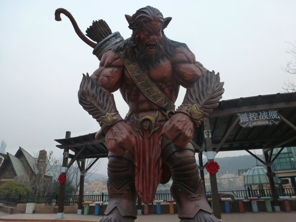 Warcraft Orc at the WoW Theme Park in China.
